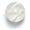 Glass Beads 10mm Round Crystal Matt With Swirl
